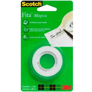 FITA MÁGICA SCOTCH 19MMX20M - 3M