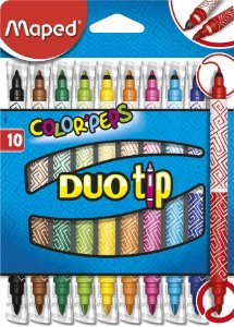 CANETA HIDROGRÁFICA COLOR'PEPS DUO TIP 10 CORES - MAPED