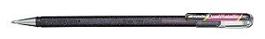 CANETA GEL HYBRID DUAL METALLIC 1.0MM SM/K110 PRETA E VERMELHA - PENTEL