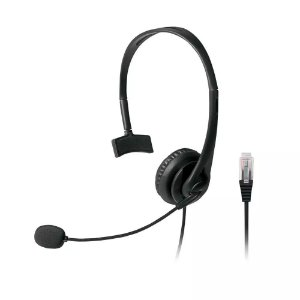 HEADSET COM CONECTOR RJ09 PARA TELEMARKETING PH251 - MULTILASER