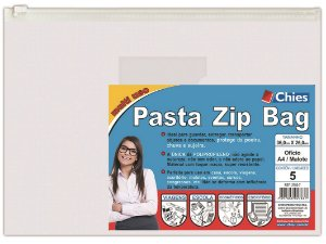 PASTA ZIP BAG 36CMX26CM CRISTAL C/5 UNIDADES - CHIES