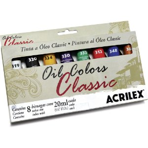 TINTA A ÓLEO 20ML OIL COLORS CLASSIC C/8 CORES - ACRILEX