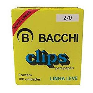 CLIPS Nº 2/0 (00) AÇO GALVANIZADO LINHA LEVE C/100 UNIDADES - BACCHI