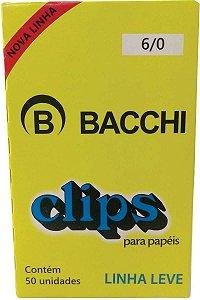 CLIPS Nº 6/0 AÇO GALVANIZADO LINHA LEVE C/50 UNIDADES - BACCHI
