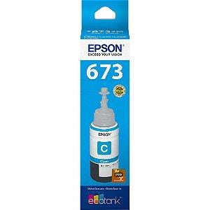 GARRAFA DE TINTA EPSON T673220-AL CIANO - 70ML