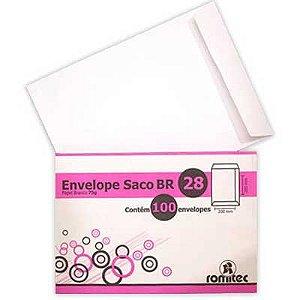ENVELOPE BRANCO 200MMX280MM C/100 UNIDADES - ROMITEC