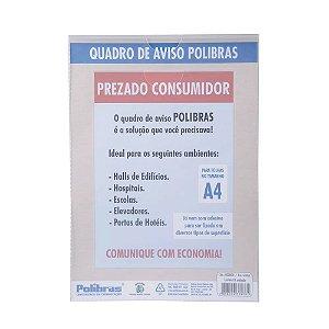 EXPOSITOR DE PAREDE A4 PP CRISTAL - POLIBRAS