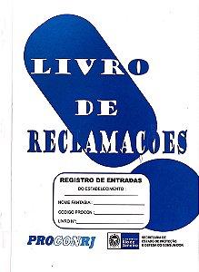 LIVRO DE RECLAMAÇÕES PROCON C/5 UNIDADES - FORTAN