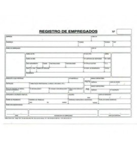 FICHA DE REGISTRO DE EMPREGADO C/100 UNIDADES - TAMOIO