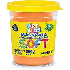 MASSINHA DE MODELAR SOFT 500G LARANJA - ACRILEX