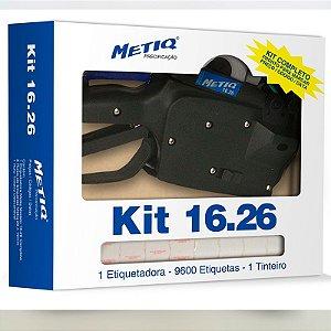 KIT ETIQUETADORA 16.26 ETIQUETAS BRANCAS 26MMX16MM - METIQ