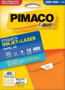 ETIQUETA A5Q-1534 12 FOLHAS - PIMACO