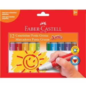 CANETINHA JUMBO 12 CORES - FABER-CASTELL