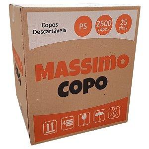 COPO DESCARTÁVEL 200ML BRANCO C/2500 UNIDADES - MASSIMO