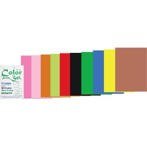 PAPEL COLOR SET 110G 48CMX66CM SORTIDO C/20 FLS - NOVAPRINT