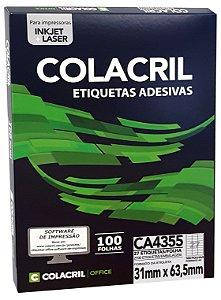 ETIQUETA INKJET E LASER PAPEL A4 CA4355 100 FLS - COLACRIL