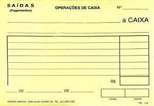 SAÍDA DE CAIXA AMARELO C/50 FLS - FORTAN