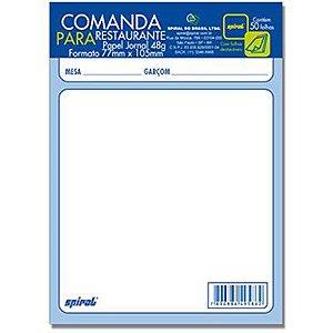 COMANDA PARA RESTAURANTE 77MMX105MM 50 FLS C/10 UNIDADES - SPIRAL