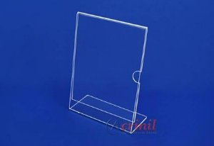 DISPLAY DE MESA VERTICAL 60MMX90MM CRISTAL C/6 UNIDADES - ACRINIL