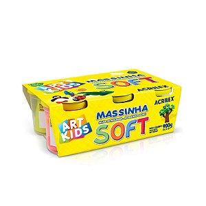 MASSINHA DE MODELAR SOFT 150G C/6 CORES - ACRILEX