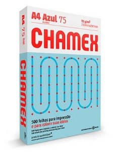 PAPEL CHAMEX COLORS A4 75 210MMX297MM AZUL - 500 FLS