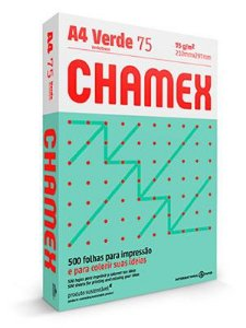 PAPEL CHAMEX COLORS A4 75 210MMX297MM VERDE - 500 FLS