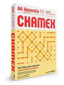 PAPEL CHAMEX COLORS A4 75 210MMX297MM AMARELO - 500 FLS