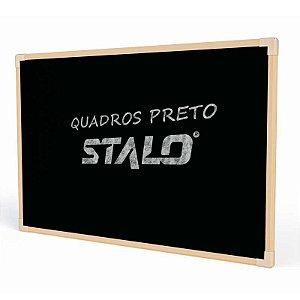 QUADRO PRETO UV MOLDURA MADEIRA NEO 90CMX60CM - STALO
