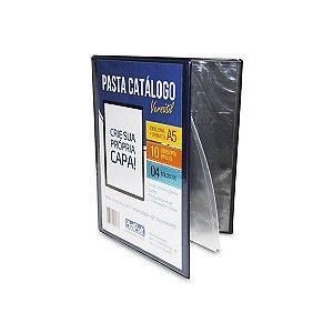 PASTA CATÁLOGO A5 C/10 ENVELOPES AZUL ESCURO - PLASTPARK