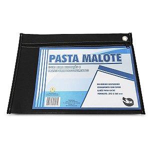 MALOTE EM CORINO COSTURADO 37,5CMX26CM PRETO - PLASTPARK