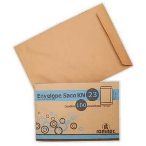 ENVELOPE KRAFT NATURAL 162MMX229MM C/100 UNIDADES - ROMITEC