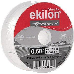 LINHA NYLON P/PESCA 0,60MMX100M CRYSTAL - EKILON