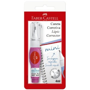 CANETA CORRETIVA MINI COLORS 4ML - FABER CASTELL