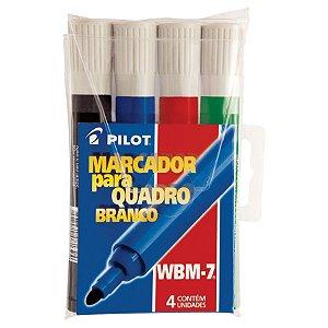 MARCADOR PARA QUADRO BRANCO WBM-7 C/4 UNIDADES - PILOT