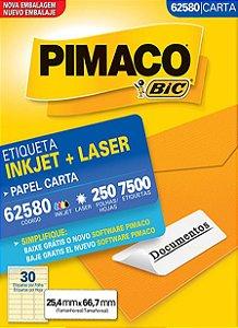 ETIQUETA CARTA 62580 250 FOLHAS - PIMACO