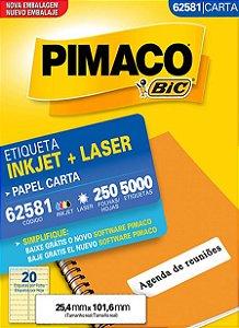 ETIQUETA CARTA 62581 250 FOLHAS - PIMACO