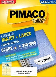 ETIQUETA CARTA 62582 250 FOLHAS - PIMACO