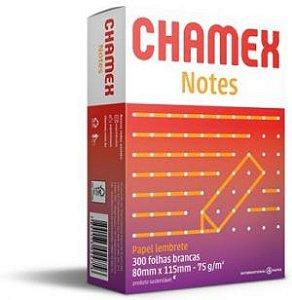 PAPEL LEMBRETE CHAMEX NOTES 80MMX115M BRANCO - 300 FLS