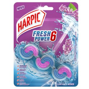 BLOCO PERFUMADO FRESH POWER 6 LAVANDA - HARPIC