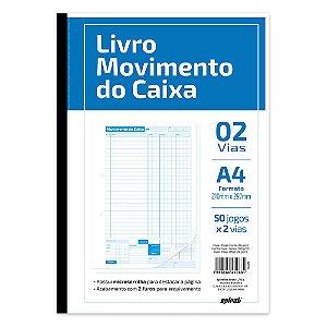 LIVRO MOVIMENTO DO CAIXA 50X2 - SPIRAL