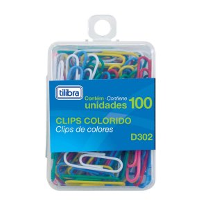 CLIPS 29MM D302 CORES SORTIDAS C/100 UNIDADES - TILIBRA