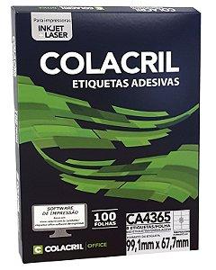 ETIQUETA INKJET E LASER PAPEL A4 CA4365 100 FLS - COLACRIL