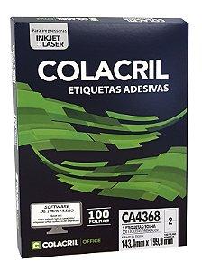 ETIQUETA INKJET E LASER PAPEL A4 CA4368 100 FLS - COLACRIL