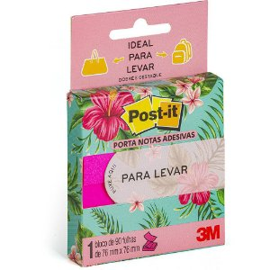 NOTAS PARA LEVAR POST-IT 76MMX76MM ROSA 90 FLS - 3M