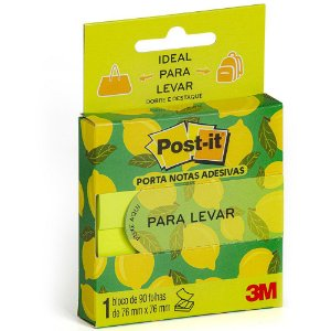NOTAS PARA LEVAR POST-IT 76MMX76MM VERDE 90 FLS - 3M