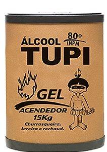 ÁLCOOL GEL TUPI ACENDEDOR 80º INPM - 15KG