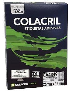 ETIQUETA INKJET E LASER PAPEL A4 CA4349 100 FLS - COLACRIL