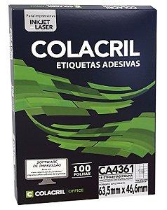 ETIQUETA INKJET E LASER PAPEL A4 CA4361 100 FLS - COLACRIL