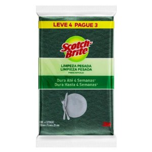 ESPONJA MULTIUSO DUPLA FACE SCOTCH-BRITE L4P3 - 3M