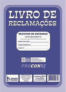 LIVRO DE RECLAMAÇÕES PROCONRJ C/5 UNIDADES - TAMOIO